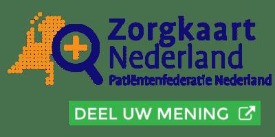 Deel uw ervaring met ons ook op www.zorgkaartnederland.nl